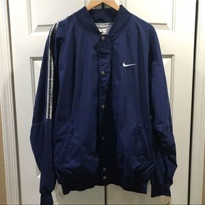 Nike Blue Vintage Mens Jacket Size XL